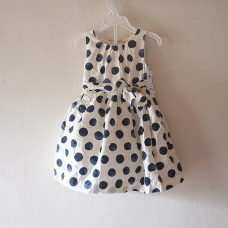 oshkosh b'gosh polka dots girl's dress オシュコシュ ワンピース
