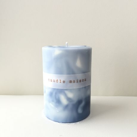 soy&palm candle navyblue