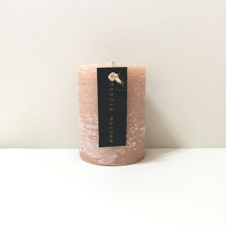 matte candle DustyRose