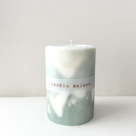 soy&palm candle green