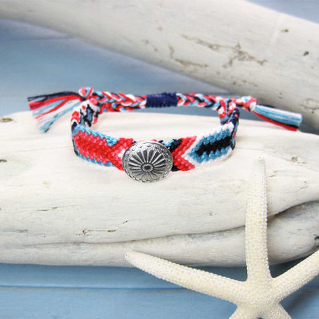 Concho Button Friendship Bracelet