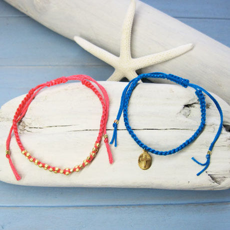 Cross & Goldbeads Bracelets 1