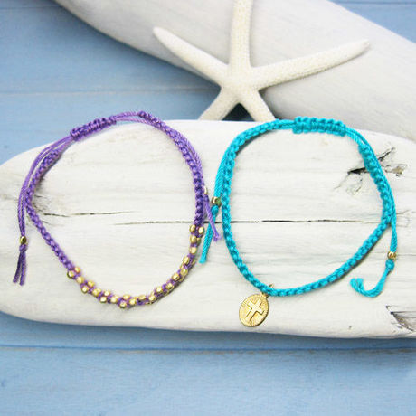 Cross & Goldbeads Bracelets 3