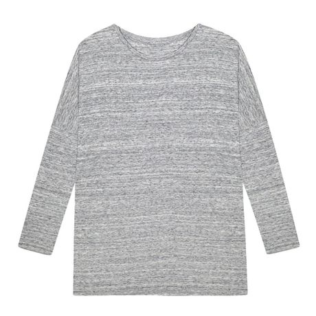 【GEORGE & NINA】Neptune Organic Cotton Flecked グレーロング レディーストップス:AA005