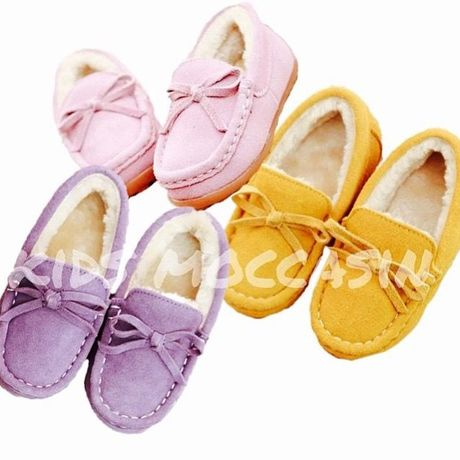 kids★pastel fur moccasin