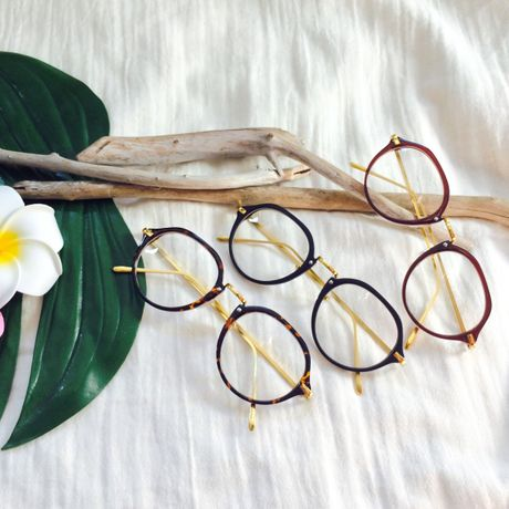 round eyeglasses 3color
