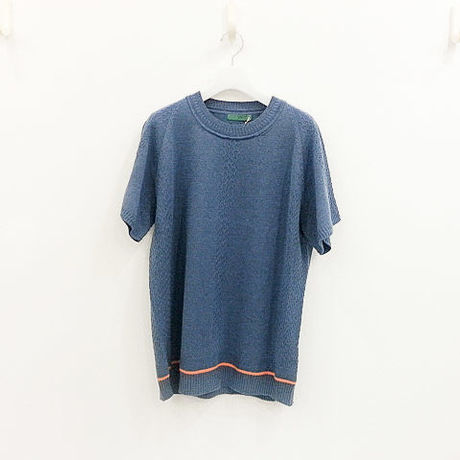 ohta / denim short knit / 16ss-kn-01D
