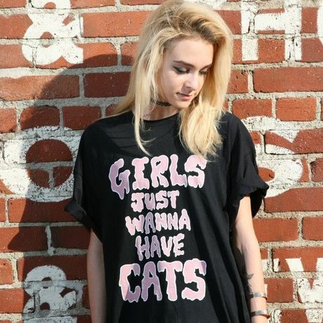 Girls Just Wanna Have Cats T-shirt