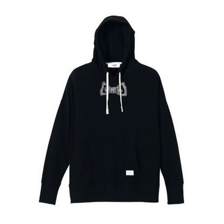 【SALE】bow tie pullover big parka (black)