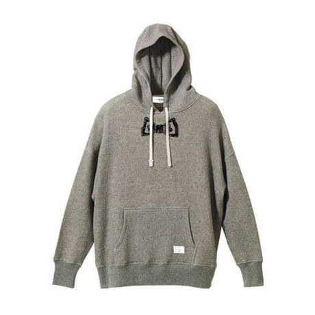 【SALE】bow tie pullover big parka (gray)