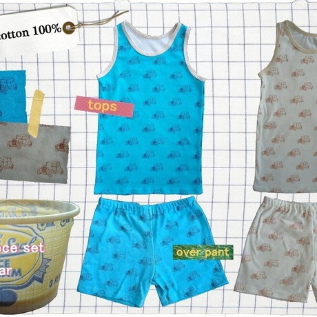 2 piece set (tops&pant) car / kids
