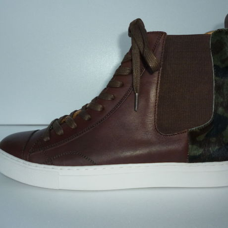 Ladies Hi-Cut Sneaker BROWN