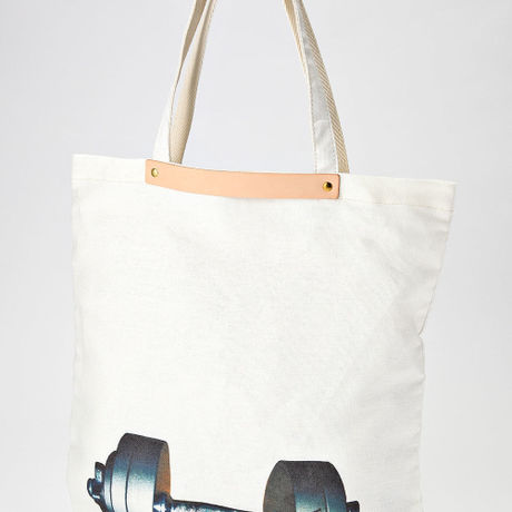 Dumbbell Linen Tote Bag