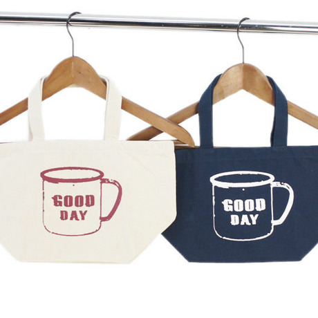 """ChiiToチート/CANVAS LUNCH TOTE BAG""""GOOD DAY MUG""""OFFWHITE(オフホワイト) NAVY(ネイビー)"""