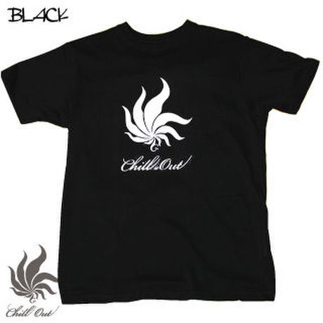 Chill Out Logo Tee Black.