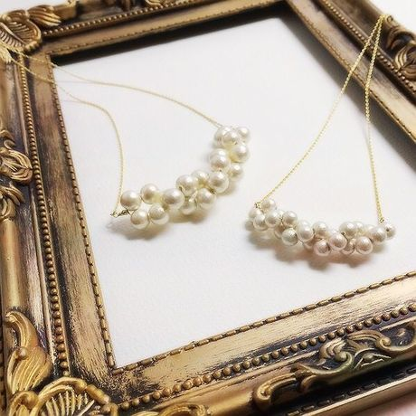 Cotton pearl twist Necklace