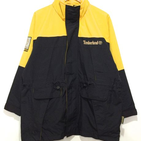 """Timberland / 90's VINTAGE, """"PERFORMANCE"""" Mountain Jacket size : L YLW/BLK"""