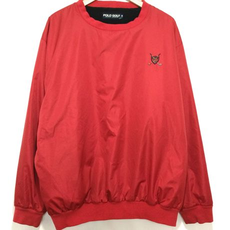 POLO GOLF / Nylon Fleece Crewneck size : LL RED