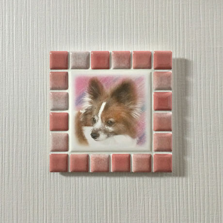 ブライトカラー/フレンチローズ(M)◆Tile Picture Frame/Bright Tone/FRENCH ROSE(M)◆