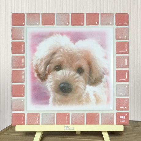 ブライトカラー/フレンチローズ(L)◆Tile Picture Frame(L)/Bright Tone/FRENCH ROSE◆