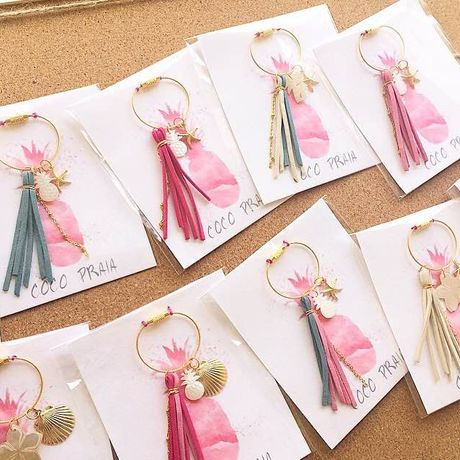 Tassel with beach-y charms Key Ring