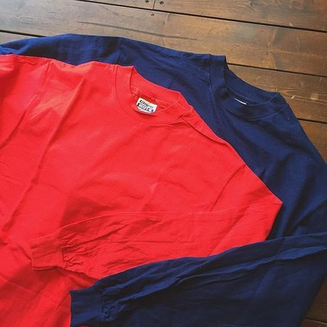 80s Hanes L/S Beefy T-shirt/Dead Stock