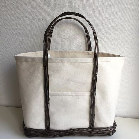 canvas tote  L(brown)