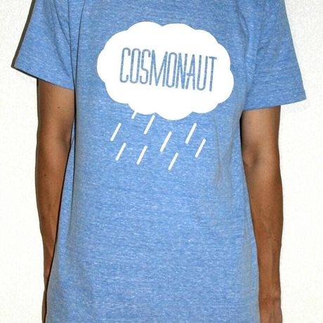 Rain Drop Tee Mens Organic Blue