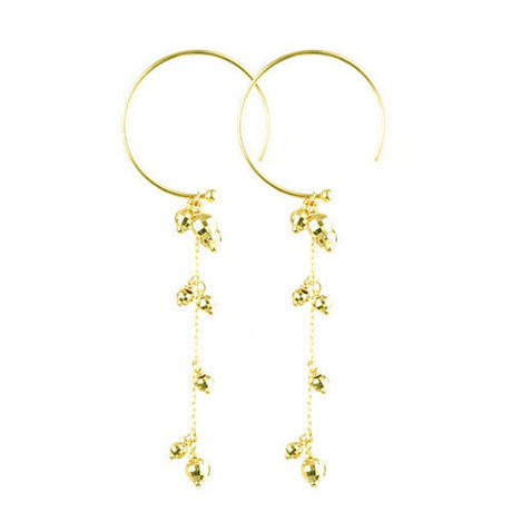 K18  Pierced earrings glamorous shower