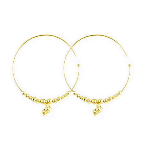 K18  Pierced earrings glamorous drop