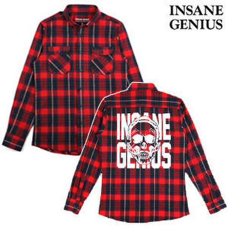 【INSANE GENIUS】 Check Shirts RED