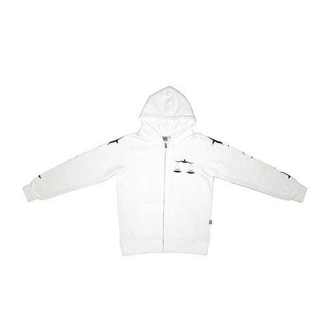 INSANE GENIUS scale Hoodie Zip Up  (white)