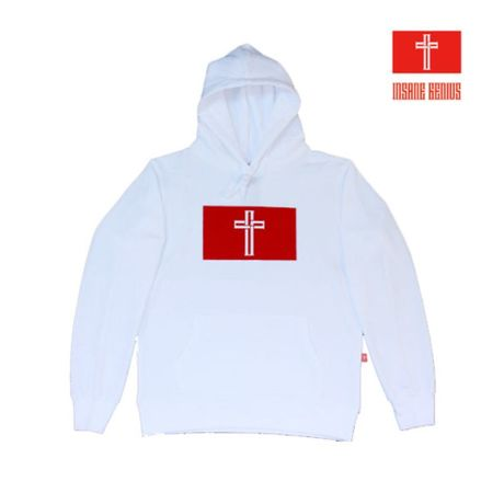 INSANE GENIUS RED Box Logo Hoodie