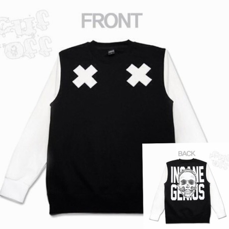 【INSANEGENIUS】Double Cross_Crewneck