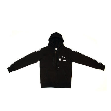 INSANE GENIUS scale Hoodie Zip Up (black)