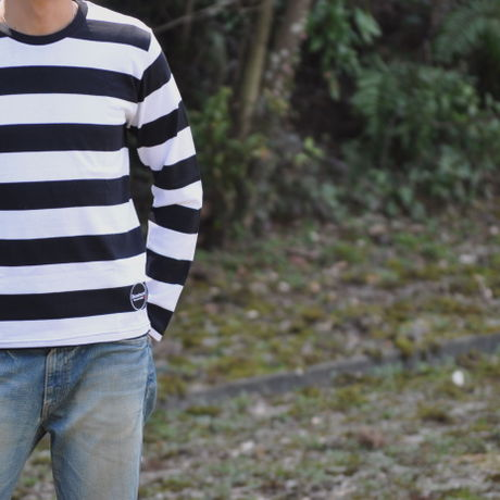 D16SS-003《Wappen Border Long Tshirt》C/# WHITE