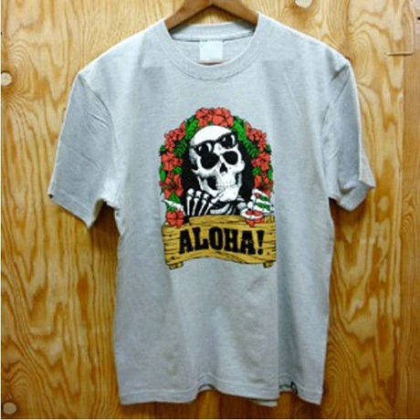 """SALE!! 30%OFF 【レゲエ】FITNESS """"ALOHA!"""" Tee/Mix Gray"""