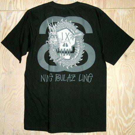 """NINE RULAZ LINE × STUSSY """"Dragon Skull"""" Tee/Black"""