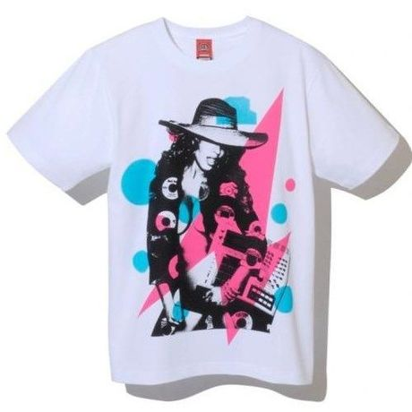 """NINE RULAZ LINE """"Musical Gal"""" Tee/White"""