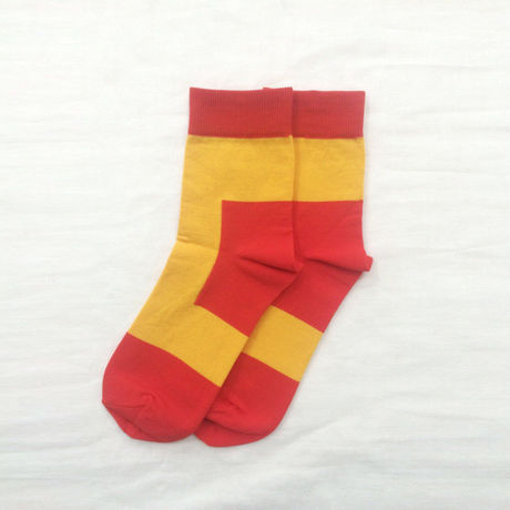 diddlediddle 路面店限定アイテム LET'S GO SOCKS / 32 RED YELLOW
