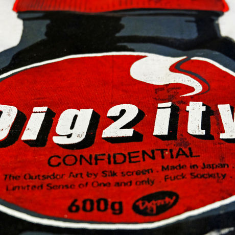 Dig2ity-Bottle / T-Shirts -WHITE-