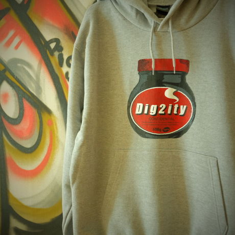 Dig2ity-Bottle / Hooded Parka -GRAY-