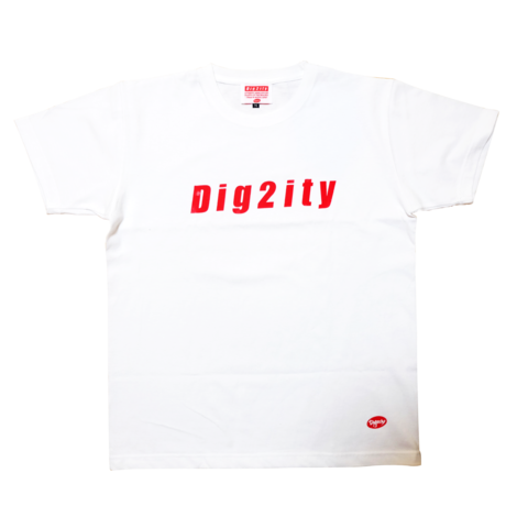 Dig2ity-RedLogo/ T-Shote -WHITE-