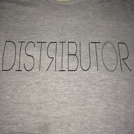 DISTRIBUTOR skateboarding tee【injection】gray