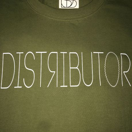 DISTRIBUTOR skateboarding tee【injection】Olive