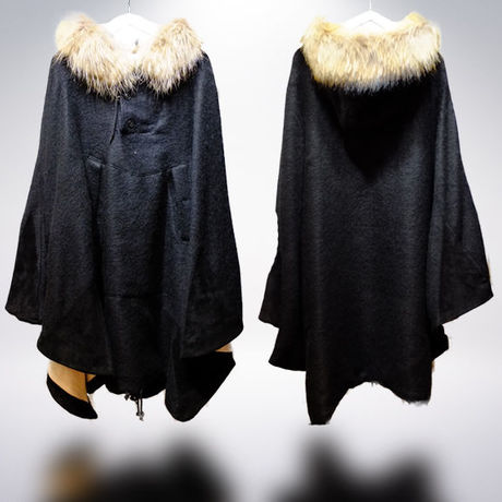 LONG mohair PONCHO