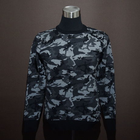 DOMESPAIR//Camouflage Sweater【Black】