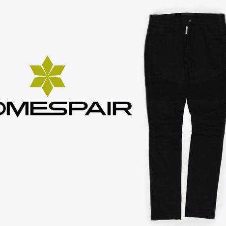 DOMESPAIR//ZIP Biker pants【BLACK】