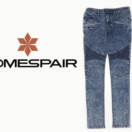 DOMESPAIR//stretch Biker pants【Navy】