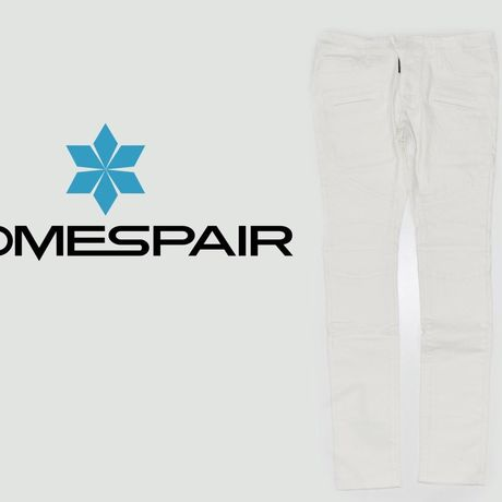 DOMESPAIR//stretch Biker pants【White】